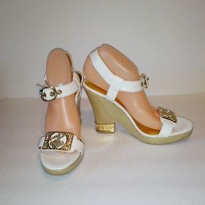 Rocawear Sarinna White Bling Sandals 10